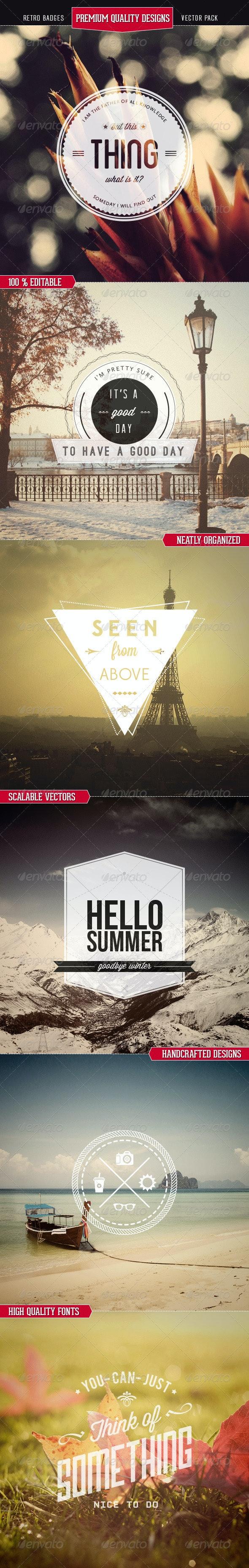 Premium Quality - Retro Badges Vectors - Retro Technology