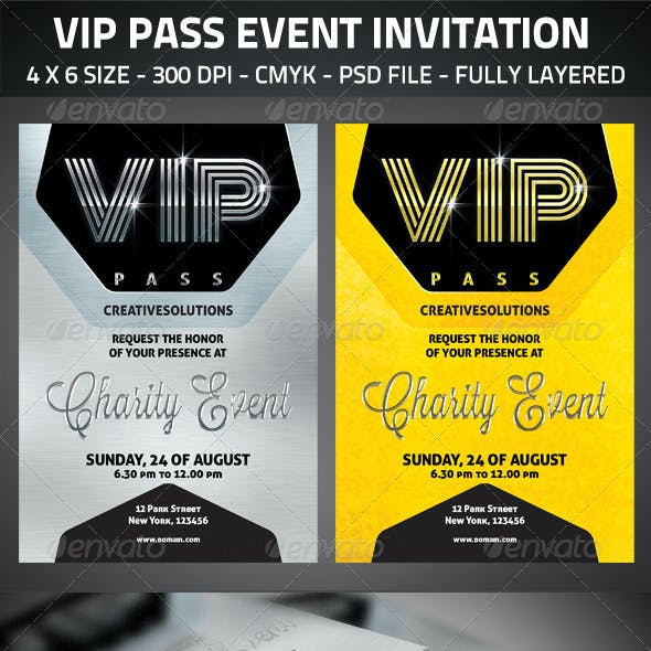 VIP Pass Event Invitation