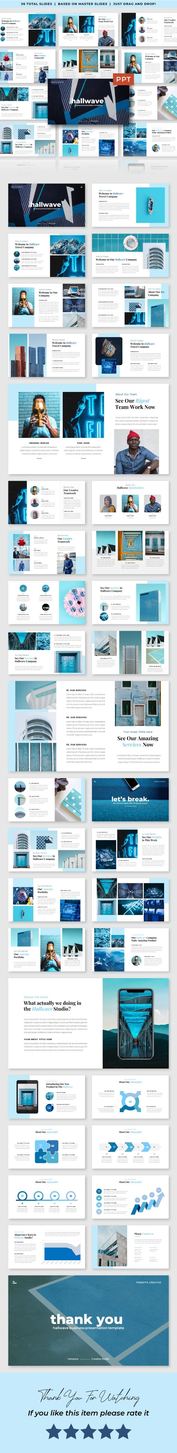 Hallwave - Business PowerPoint Template - Business PowerPoint Templates