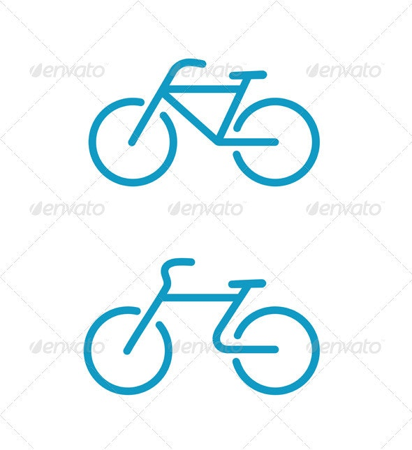 Bicycle icons - Conceptual Vectors