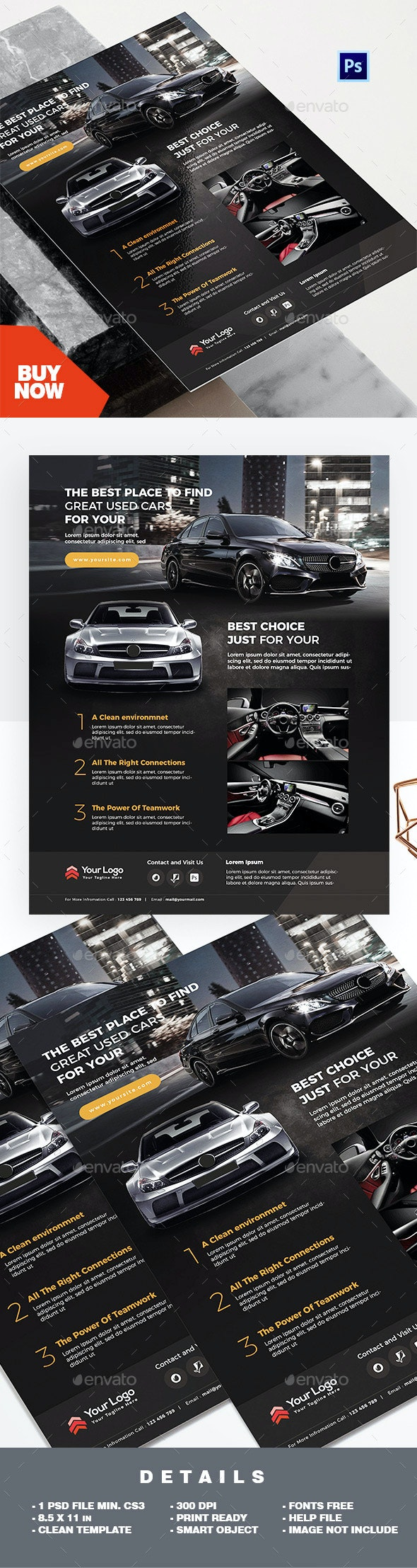 Product Flyer - Car Marketing Promotion - Corporate Flyers