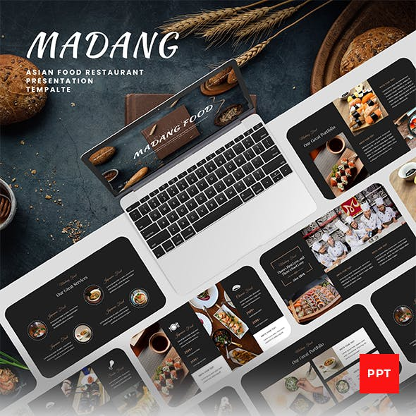 Madang – Asian Food Restaurant PowerPoint Presentation Template