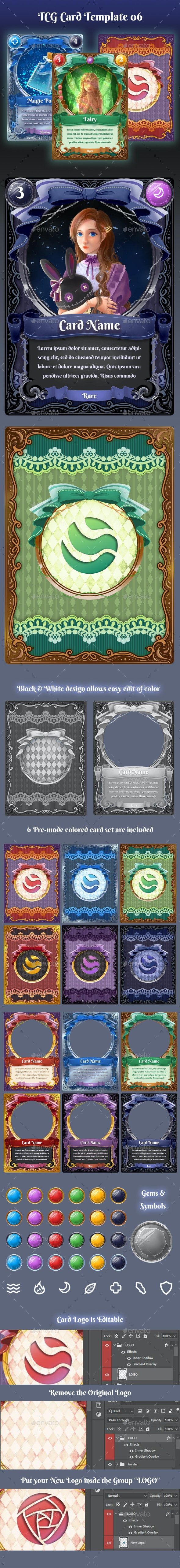TCG Card Template 06 - Miscellaneous Game Assets