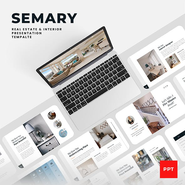 Semary – Real Estate & Interior PowerPoint Presentation Template