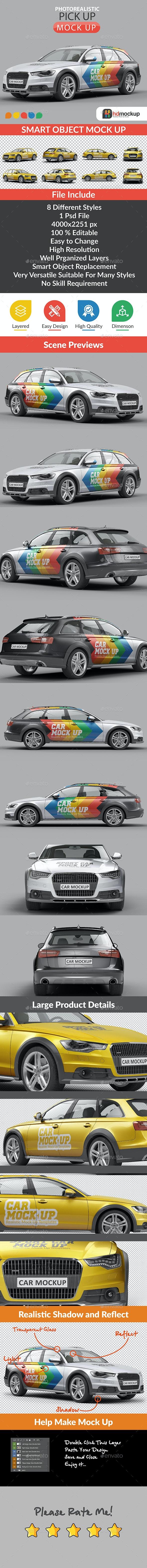 Photorealistic SUV Car Mock Up - Vehicle Wraps Print