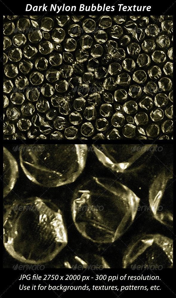 Dark Nylon Bubble Wrap Texture - Fabric Textures