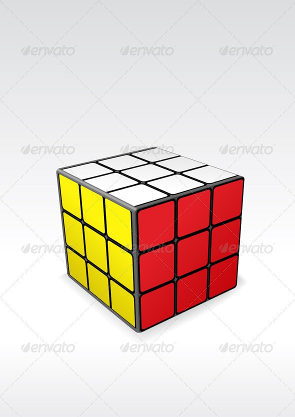 Rubik's cube - Objects Vectors