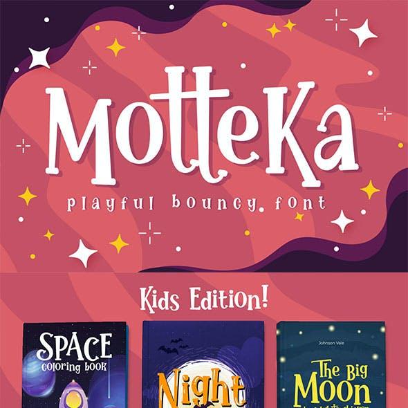 Motteka A Playful Bouncy Font