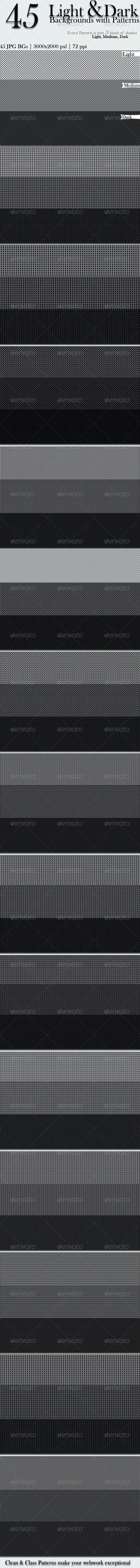 45 Light & Dark Backgrounds with Patterns - Patterns Backgrounds