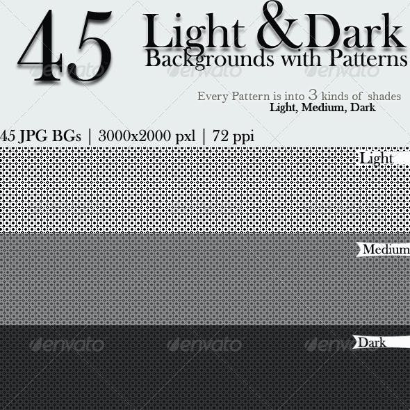 45 Light & Dark Backgrounds with Patterns
