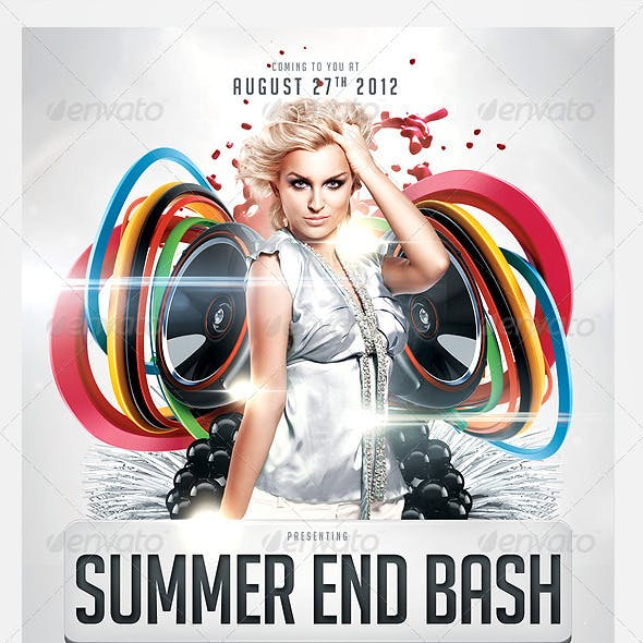 Summer End Bash Party Flyer