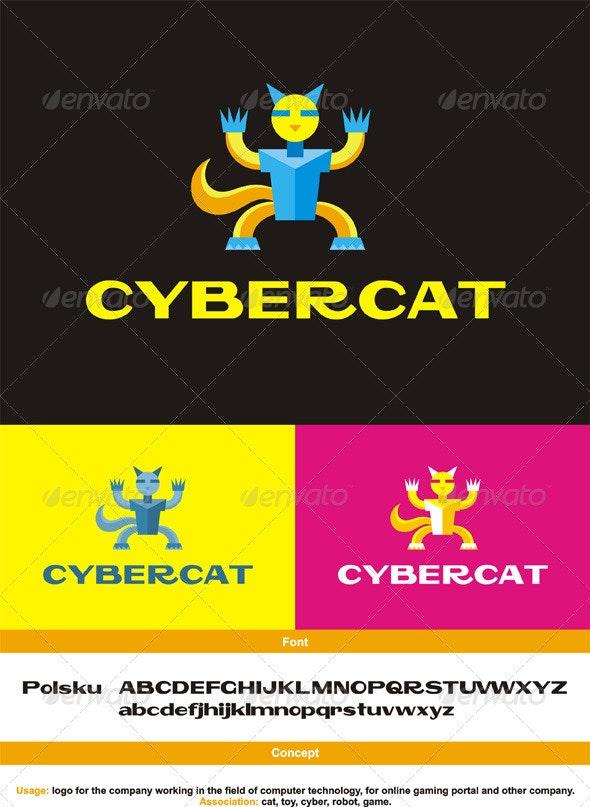 CyberCat Logo - Animals Logo Templates