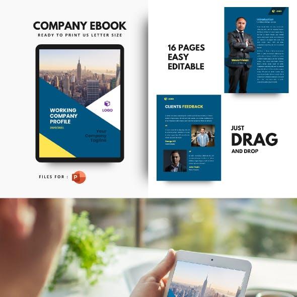 Corporate Company eBook Presentation Powerpoint Template