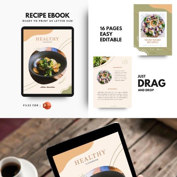 Vintage Recipe eBook PowerPoint Template