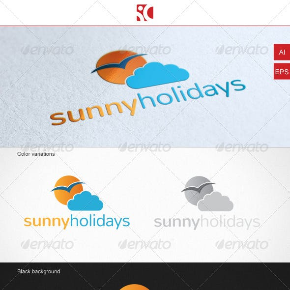 Sunny Holidays - Logo Template