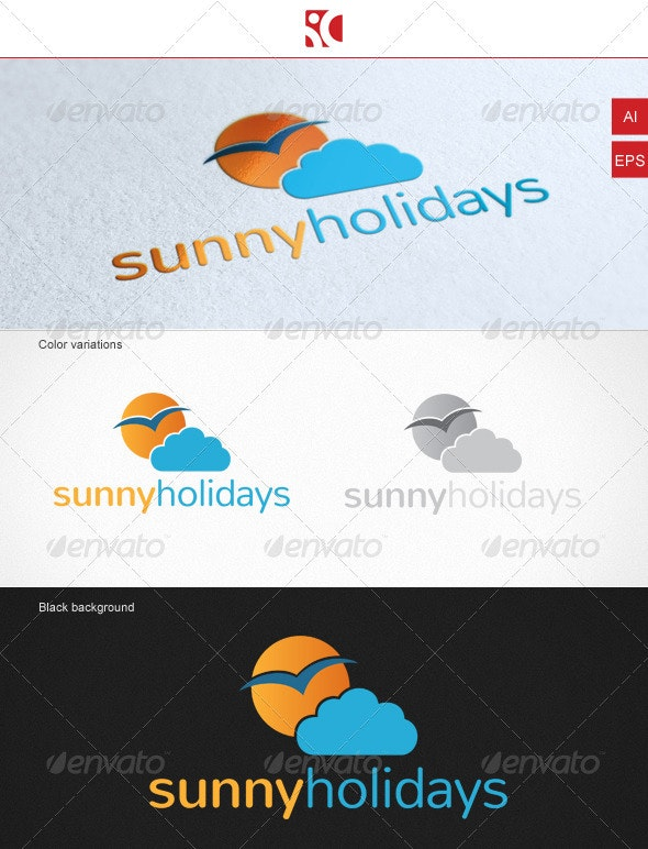 Sunny Holidays - Logo Template - Nature Logo Templates