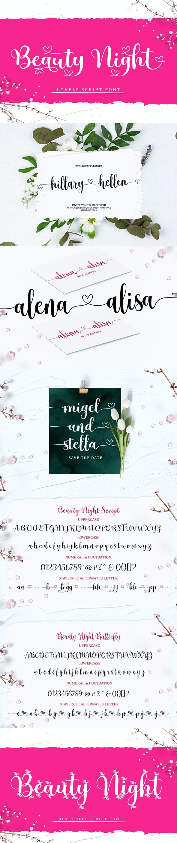 Beauty Night Script - Script Fonts