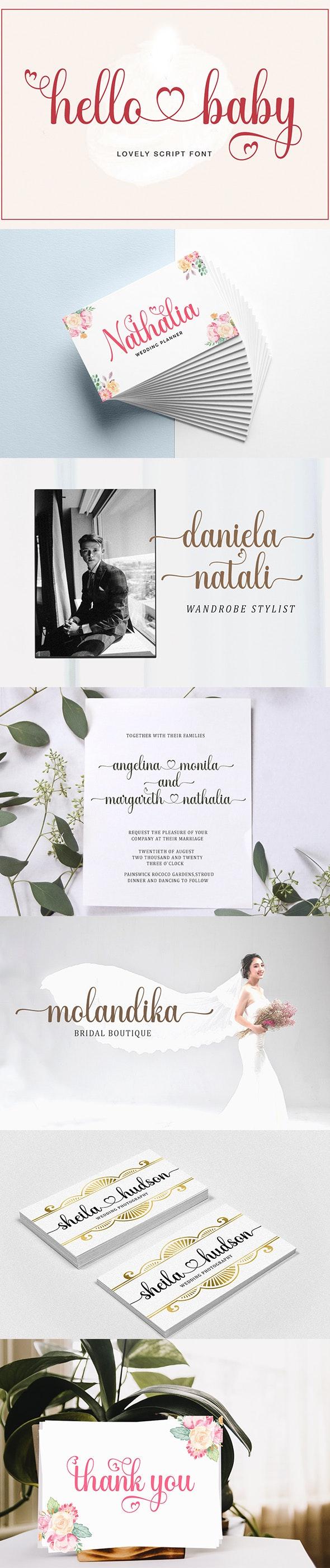 hello baby - Lovely Script font - Script Fonts