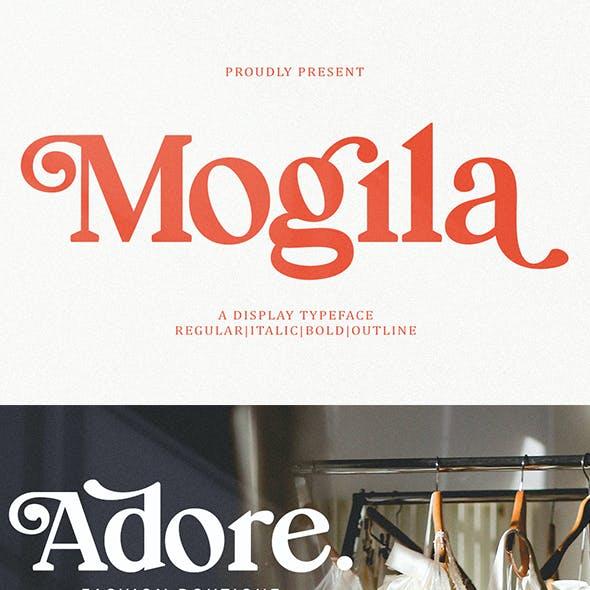 Mogila Display Font