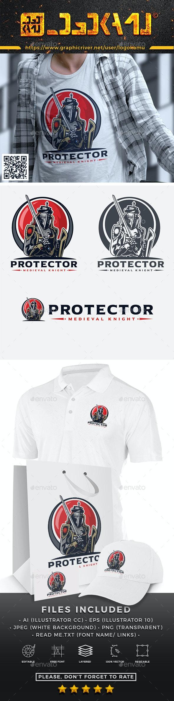Protector Knight Logo - Humans Logo Templates