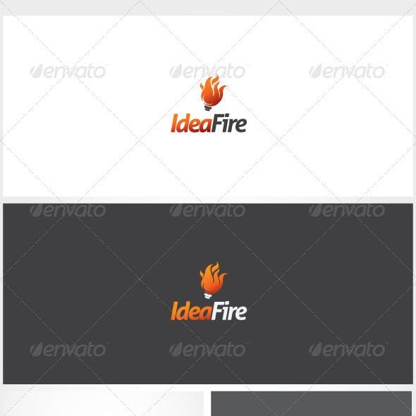 Idea Fire Logo Template