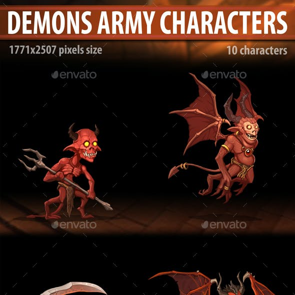 Demons Army Characters