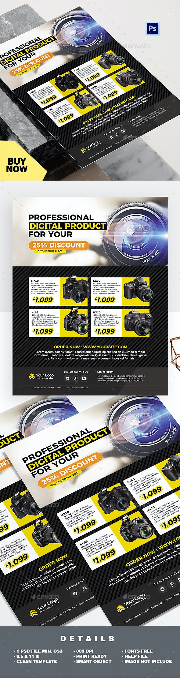 Product Flyer - DSLR Camera Promotion - Commerce Flyers