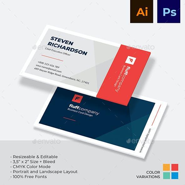 Minimalist Corporate Business Card