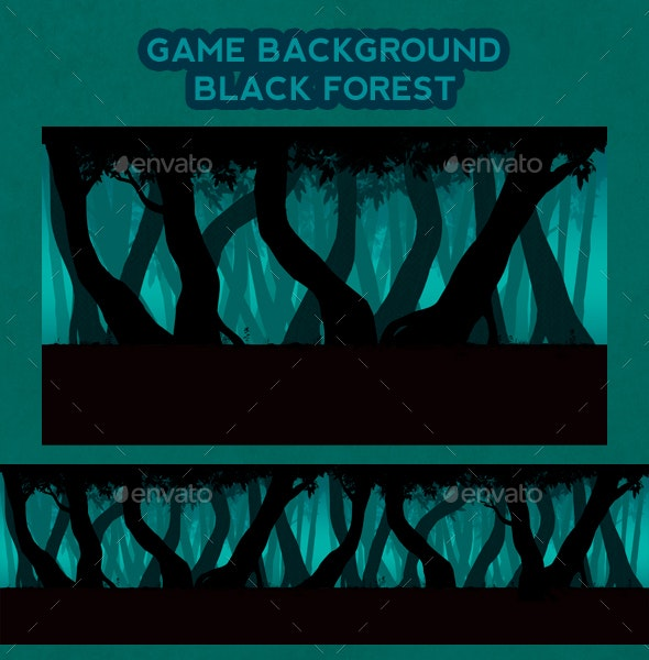 Game Background Black Forest - Backgrounds Game Assets