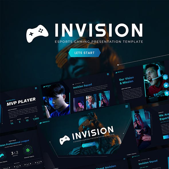 Invision – Esports Gaming Google Slide Template