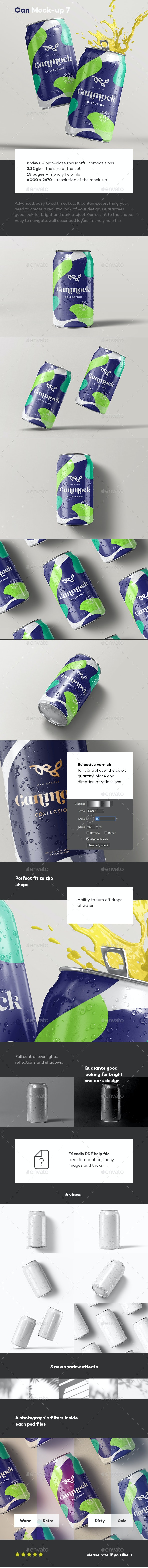 Can Mock-up 7 - Food and Drink Packaging
