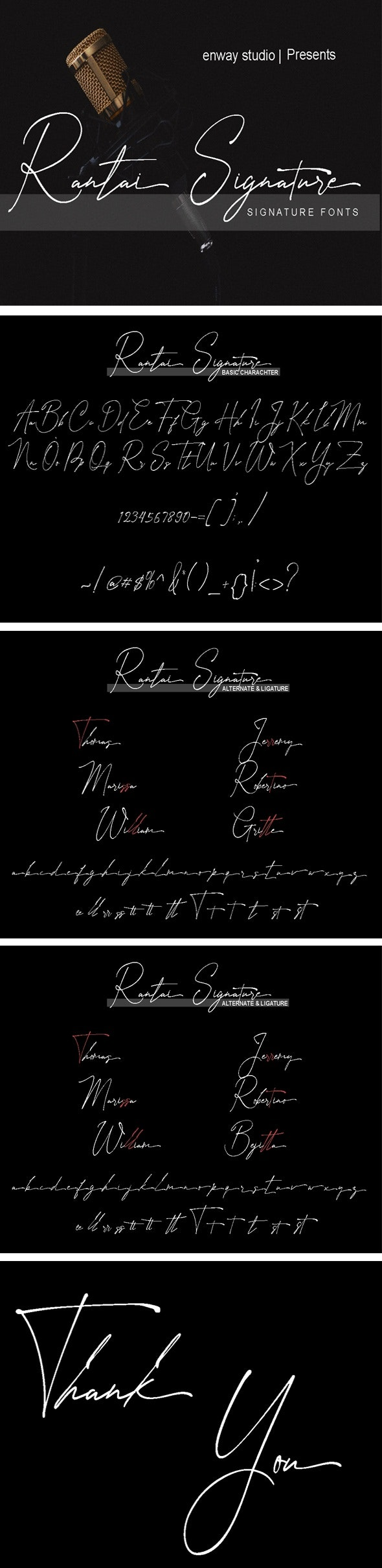 Rantai Signature - Hand-writing Script