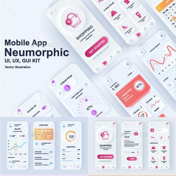 Neumorphic Mobile App UI Kit
