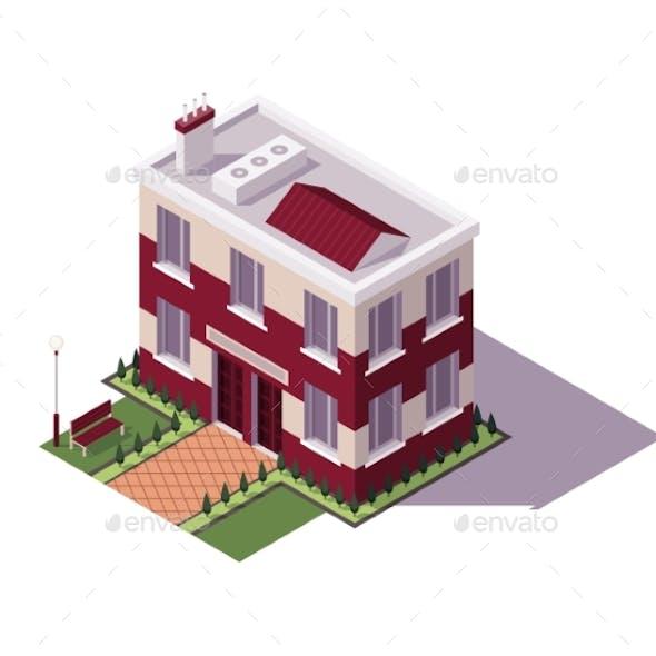 Isometric Educational Building