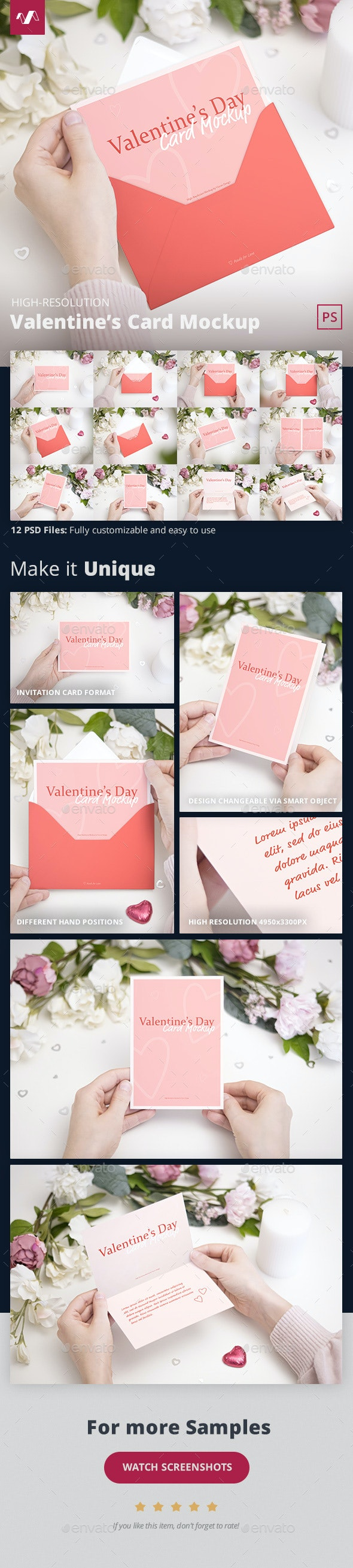 Valentines Day Card Mockup - Miscellaneous Print
