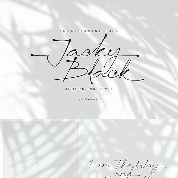 Jacky Black | Handwritten Ink Style Font