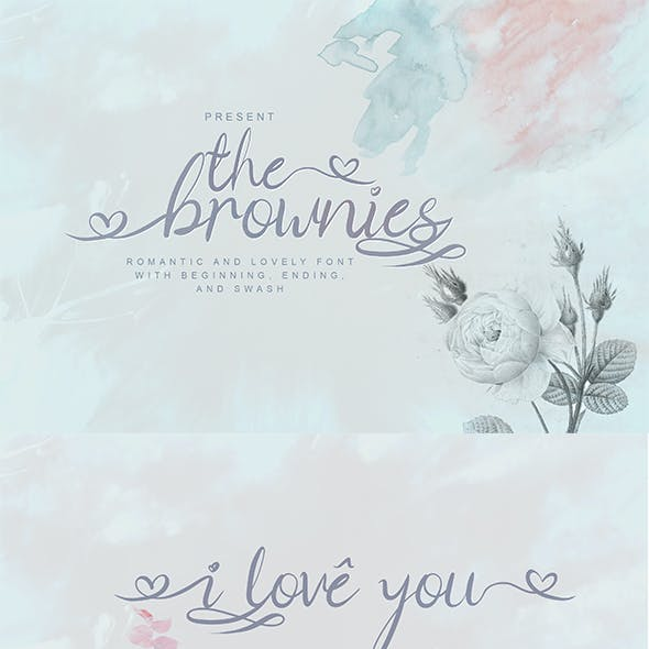The Brownies | Romantic Love Font