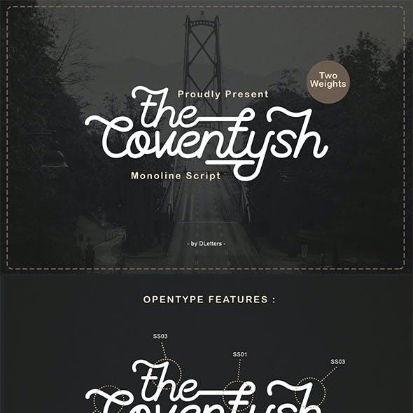 The Coventysh – Monoline Script Font