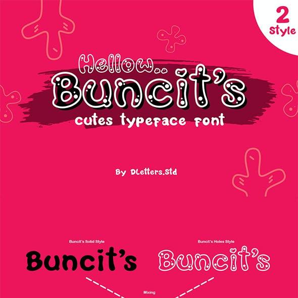Buncit's Cutes TypeFace Font – 2 Style