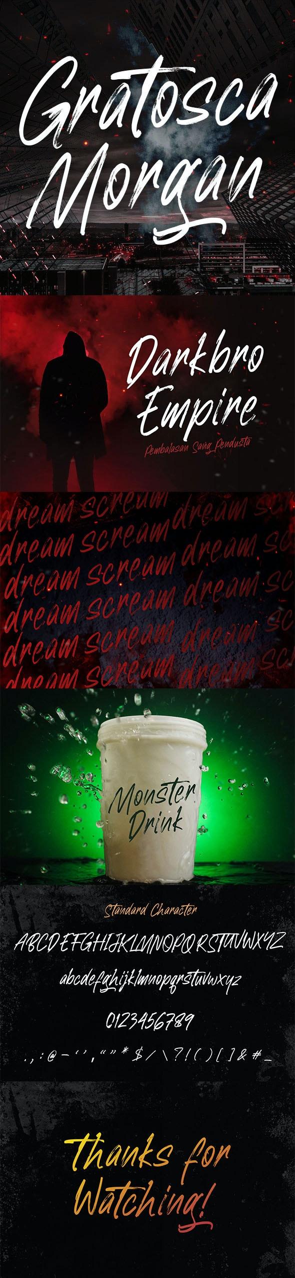 Gratosca Morgan Brush Font - Graffiti Fonts
