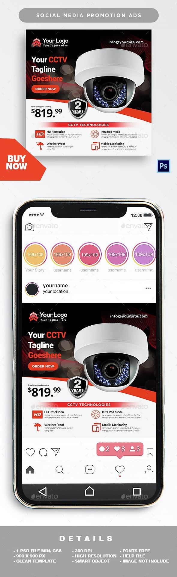 Social Media Ads - CCTV - Social Media Web Elements