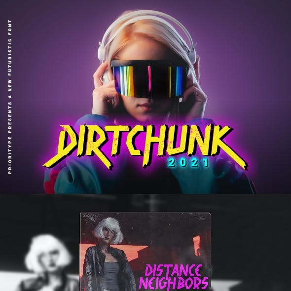 Dirtchunk - Futuristic Font