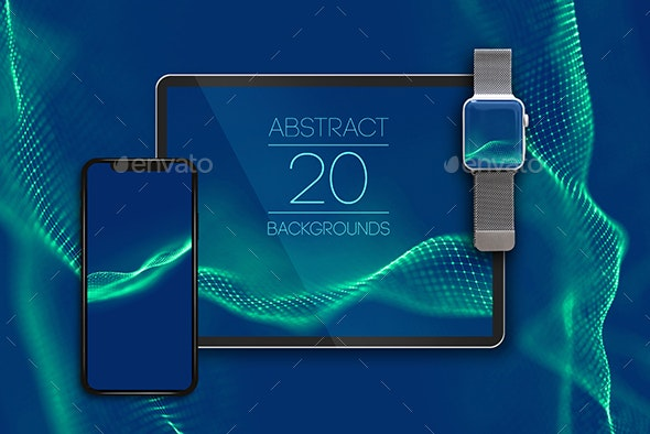 20 Abstract Blue Backgrounds - Tech / Futuristic Backgrounds