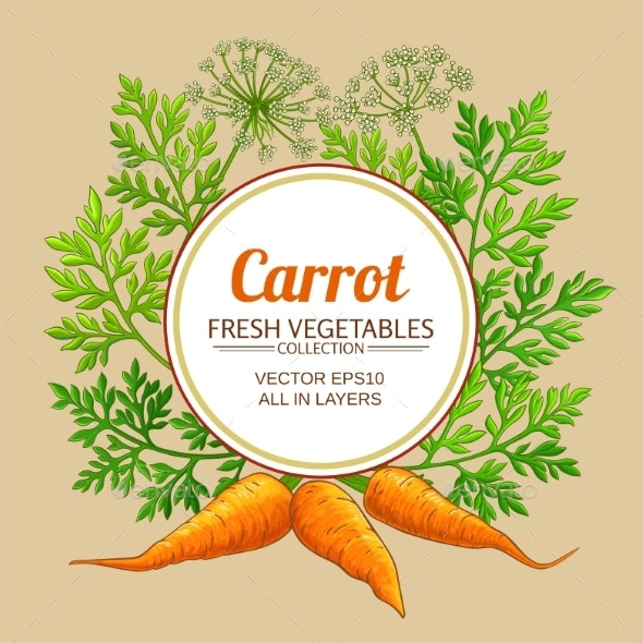 Carrot Vector Frame - Food Objects