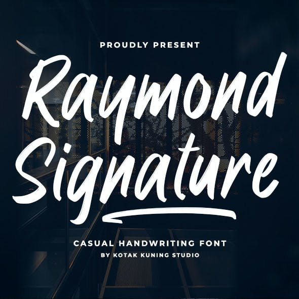 Raymond Signature Font