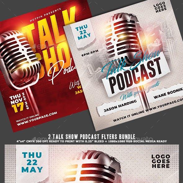 Talk Show Podcast Flyer Bundle