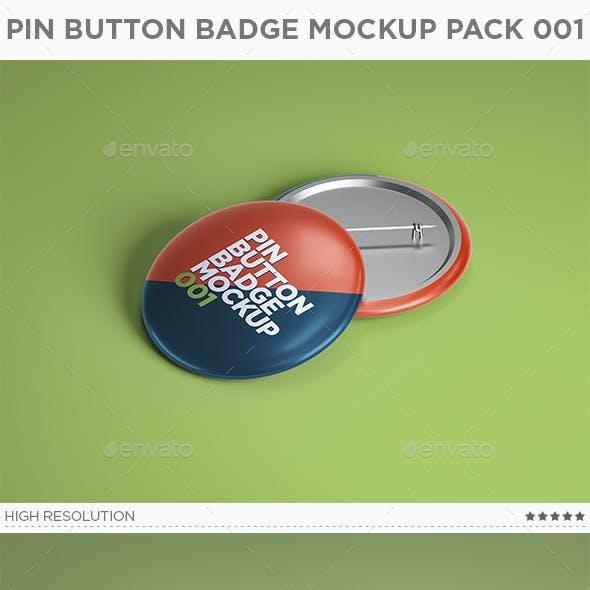 Pin Button Badge Mockup Pack 001