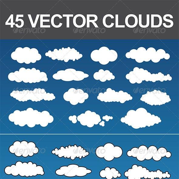 45 Vector Clouds