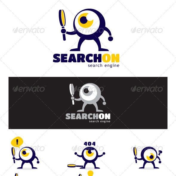 Search On Logo Eye Mascot