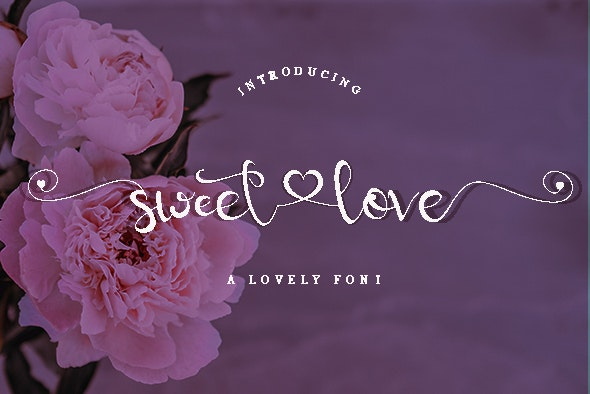 sweetlove - Hand-writing Script